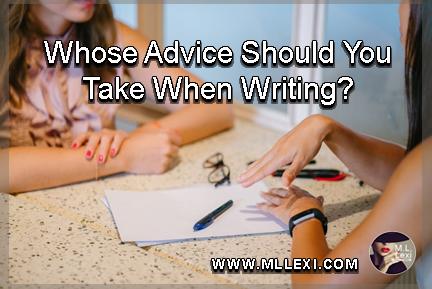 whose advice should you take when writing1