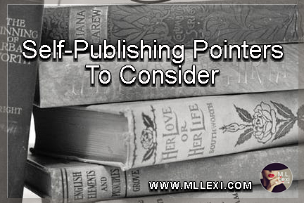self-publishing pointers to consider1